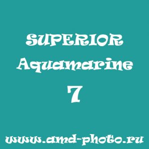 Фон бумажный SUPERIOR Aquamarine 7, аналог COLORAMA Sea Blue 85