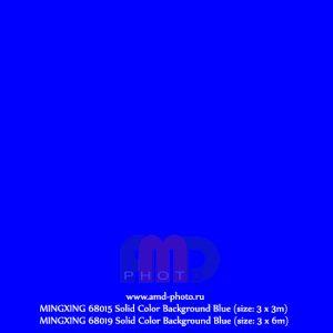 Фон тканевый однотонный MINGXING Solid Color Background Blue
