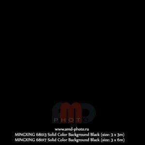 Фон тканевый однотонный MINGXING Solid Color Background Black